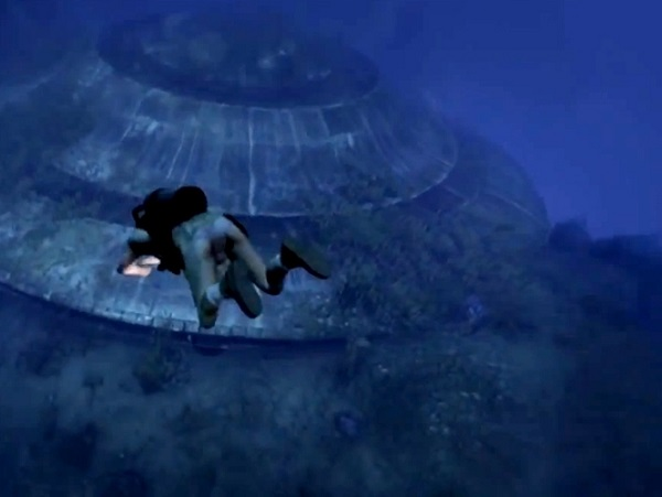 Disco voador no Oceano