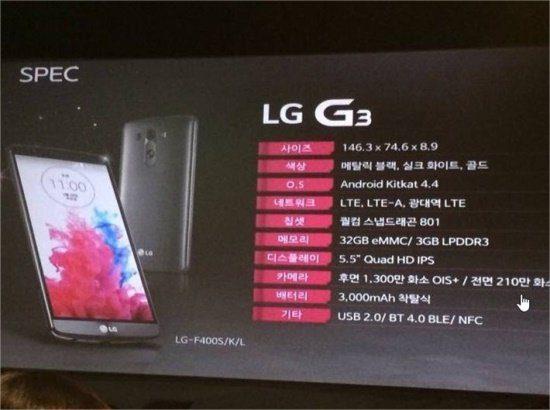 LG G3 Apresentação