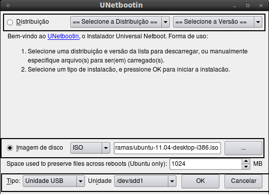 Pendrive Bootavel Linux