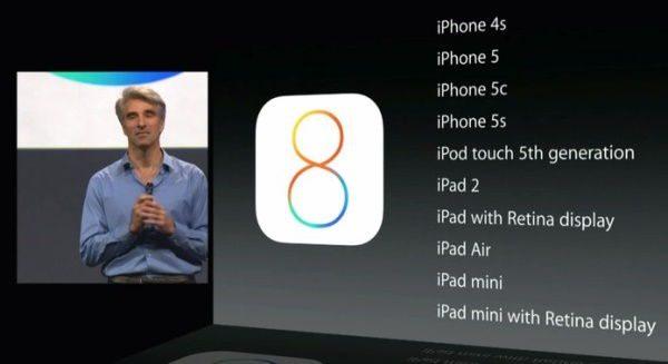 IOS 8 aparelhos