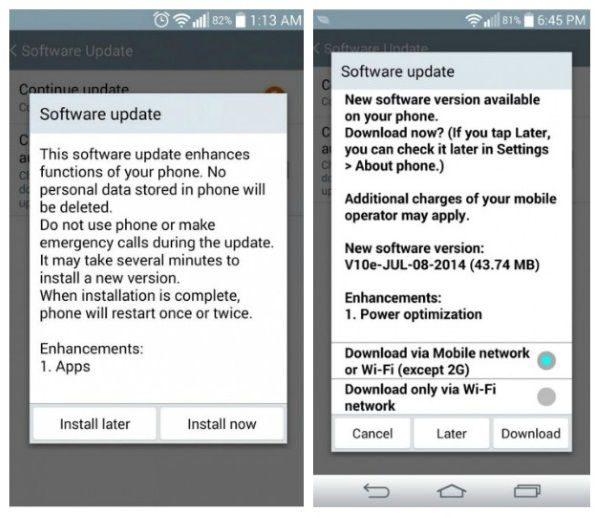 LG G3 Atualização Android 4.4.2 KitKat