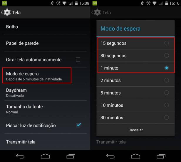 Como economizar a bateria do Motorola Moto G (2014)