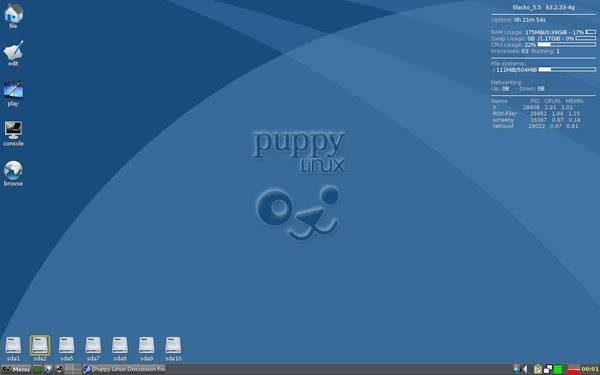 Puppy Light sistemas Linux leve