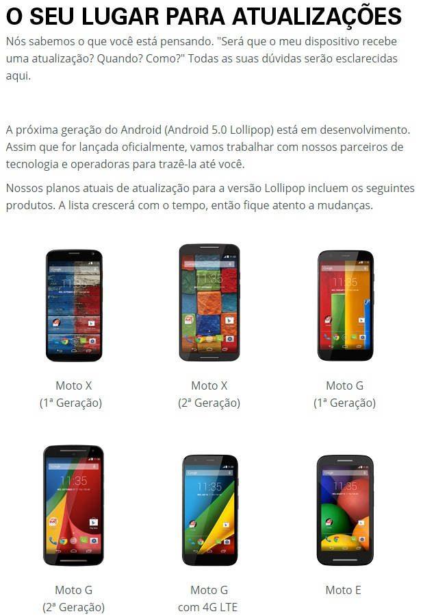 Motorola Android 5.0 Lollipop