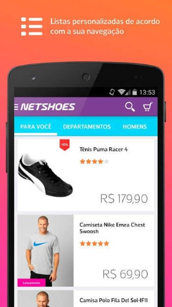 Netshoes download app Android IOS
