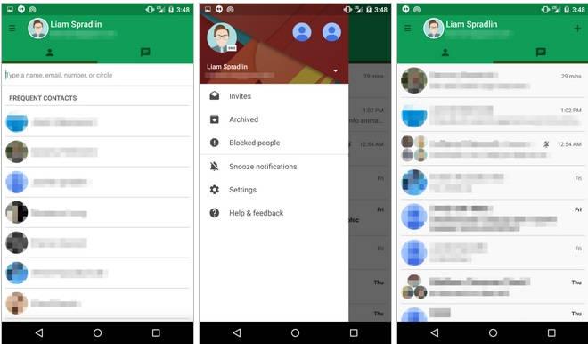 Hangouts: Imagens mostram app mais adaptado ao Material Design