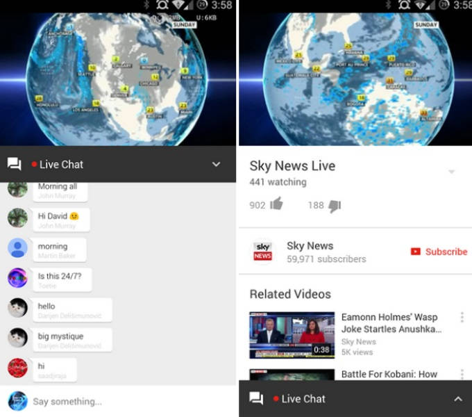 Youtube para Android: Update permite Live Chat entre usuários