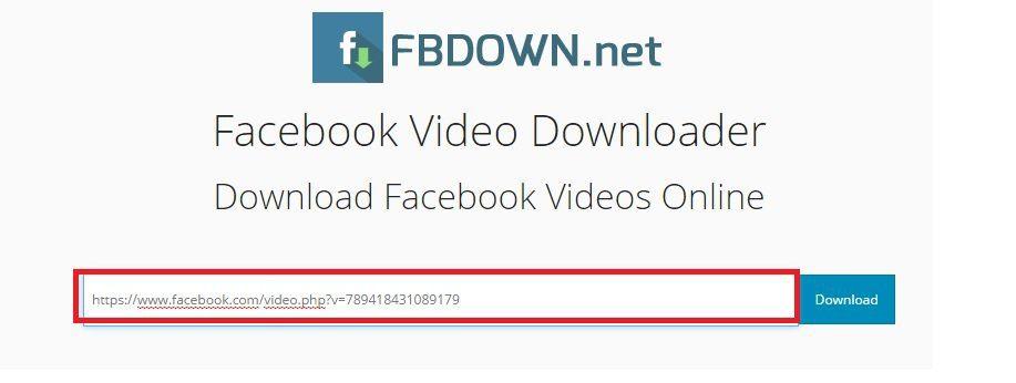 como baixar vídeos do facebook  fbdown