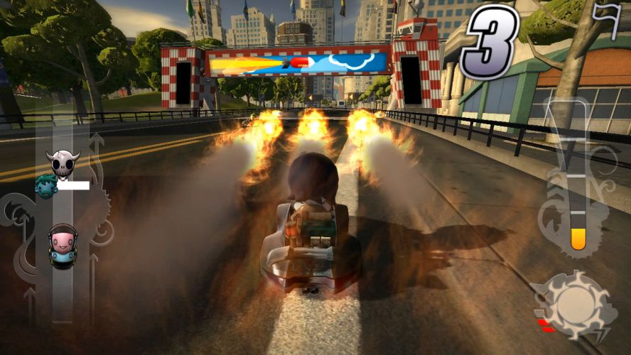 modnation racers - armas