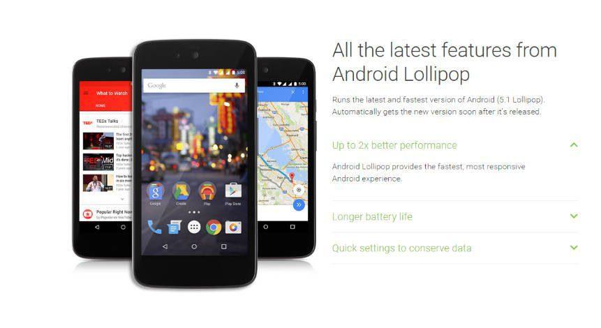 Android 5.1 Lollipop é oficializado para o Android One