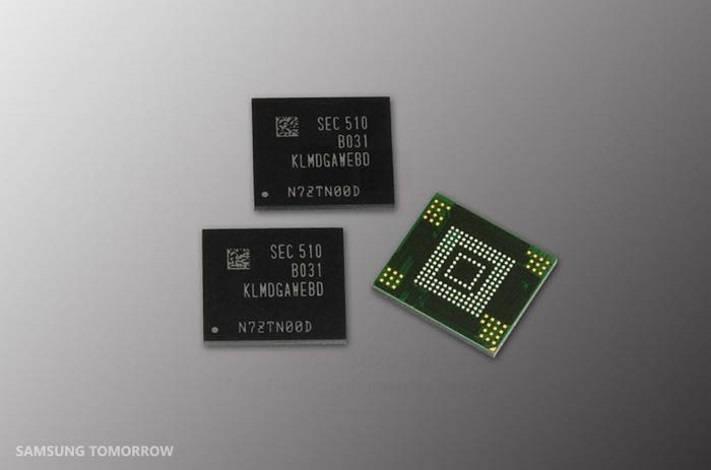 Samsung está trabalhando em memória de 128GB para smartphones