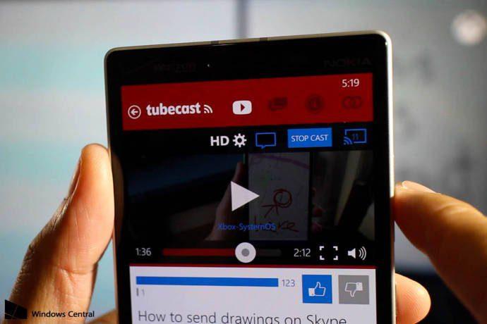 Tubecast agora fornece suporte para o Windows Phone 8.1