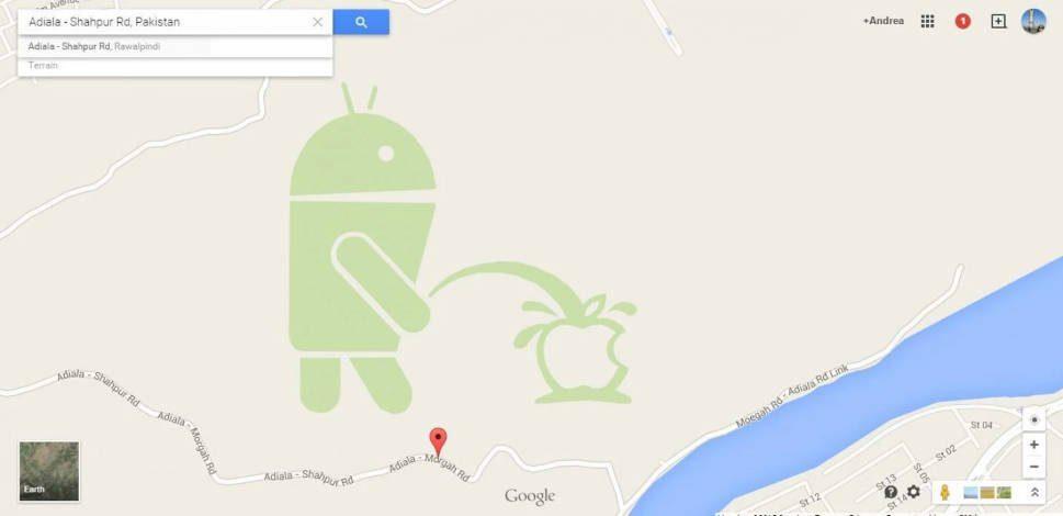 Google pede desculpas pela imagem do Android urinando no logo da Apple