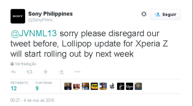 Xperia Z: Android Lollipop confirmado para próxima semana