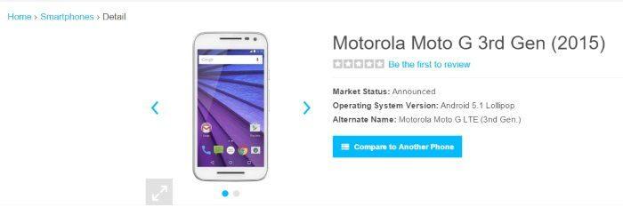 Moto G 2015 aparece com processador Snapdragon 615