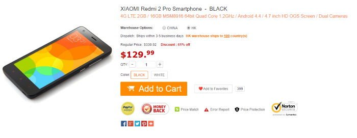 Xiaomi Redmi 2 Pro está sendo vendido no GearBest!