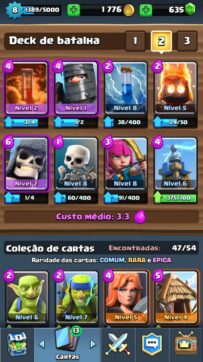 Clash Royale - Cartas