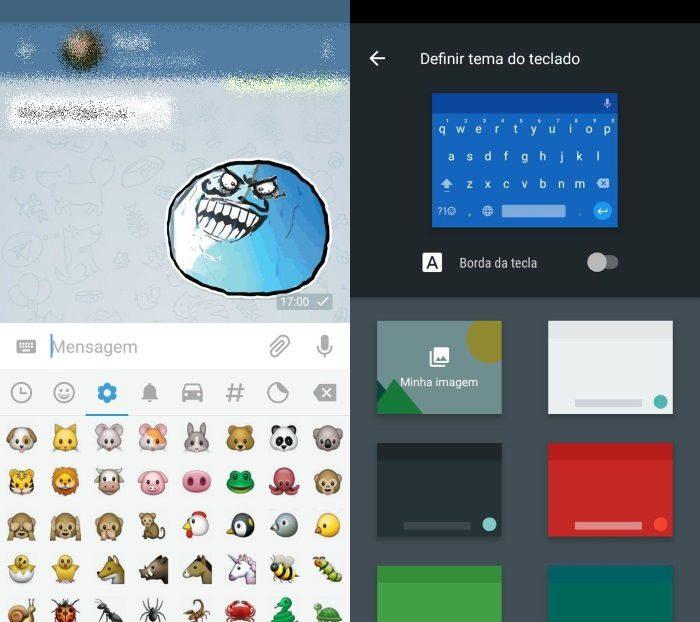 teclado do google android 7.0 nougat