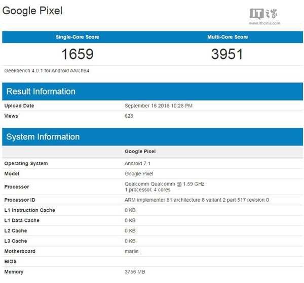 Pixel XL passa por teste de Benchmark com Snapdragon 820. (Foto: Divulgação/Ithome)