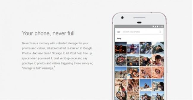 Agora os usuários não terão que se preocupar com o armazenamento para fotos e vídeos. (Foto: Divulgação/Carphone Warehouse)