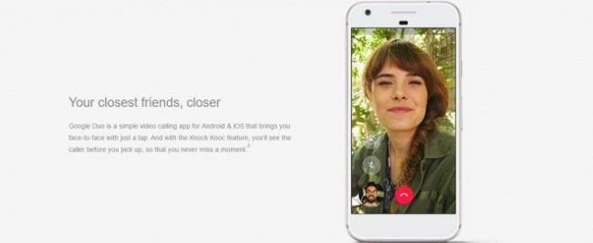 A função Knock Knock do Google Duo permite que você veja o autor da chamada antes de atendê-la. (Foto: Divulgação/Carphone Warehouse)