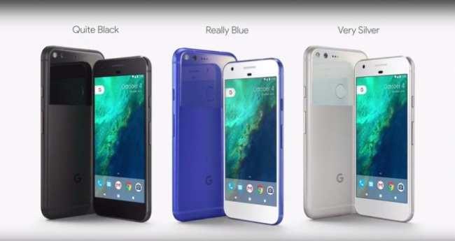 """O Google Pixel chega nas cores """"Bem Preto"""", """"Realmente Azul"""" e """"Muito Prata"""". (Foto: Divulgação/Google)"""