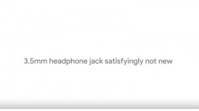 A Google aproveitou para cutucar a Apple sobre a ausência da entrada para fones de ouvido no iPhone 7. (Foto: Divulgação/Google)