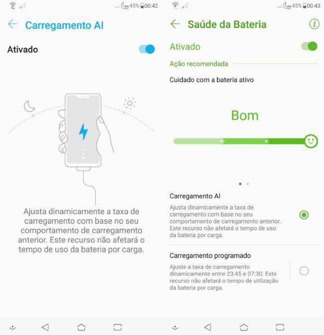 Zenfone 5 2018 - Carregamento por AI
