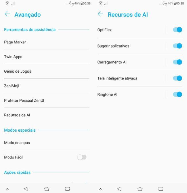 Zenfone 5 2018 - Inteligência artificial