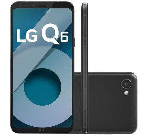 LG Q6 na cor preta celular 800 reais