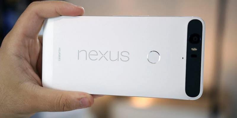Nexus 6P branco.