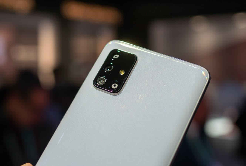 Galaxy A71 branco.