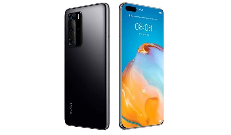 Huawei P40 Pro preto.