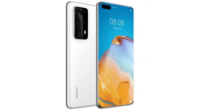 Huawei P40 Pro+ branco.