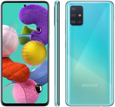 Galaxy A51 azul.