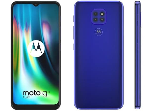 Motorola Moto G9 Play azul.