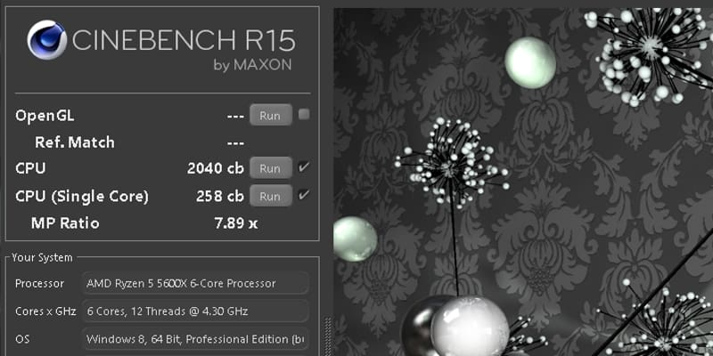 cinebench r15 benchmark ryzen 5 5600x