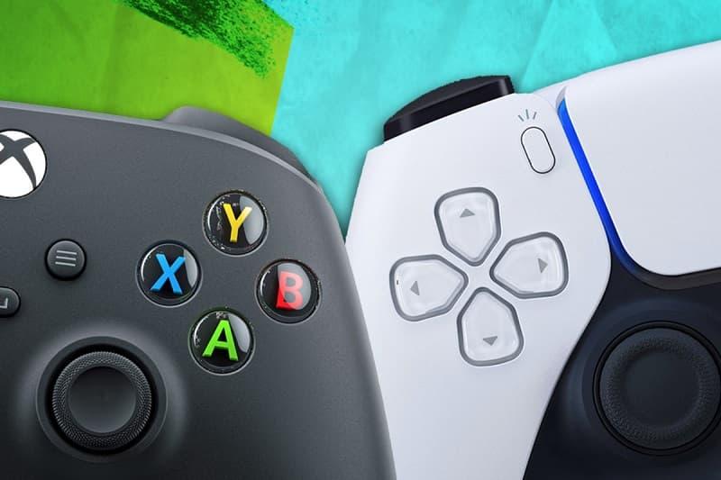 Controle Xbox Series X e PS5.