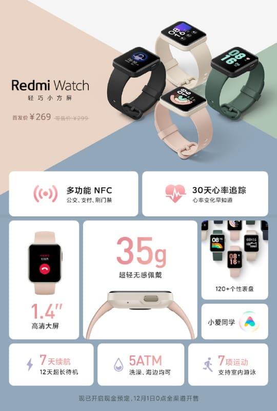 informacoes sobre o redmi watch