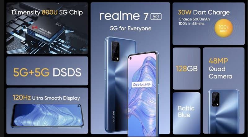 Realme 7 5G é oficializado.