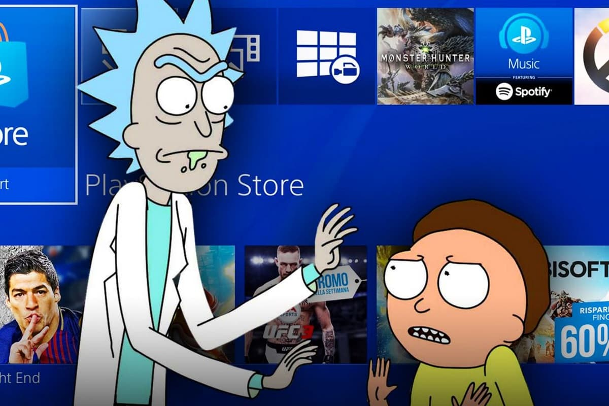 Rick and Morty comercial para Sony.