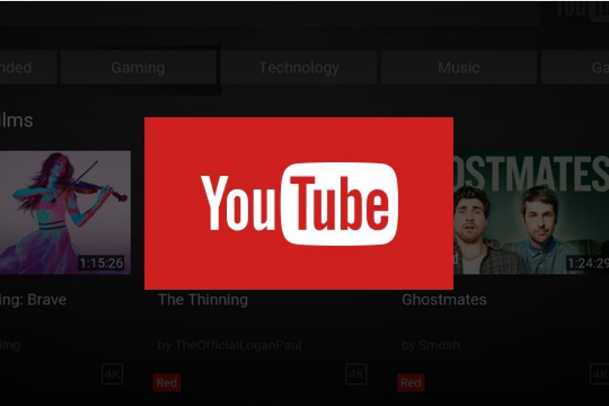 Logo YouTube para Android TV.