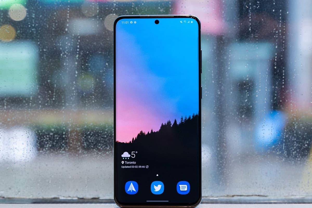 Samsung Galaxy S20 tela