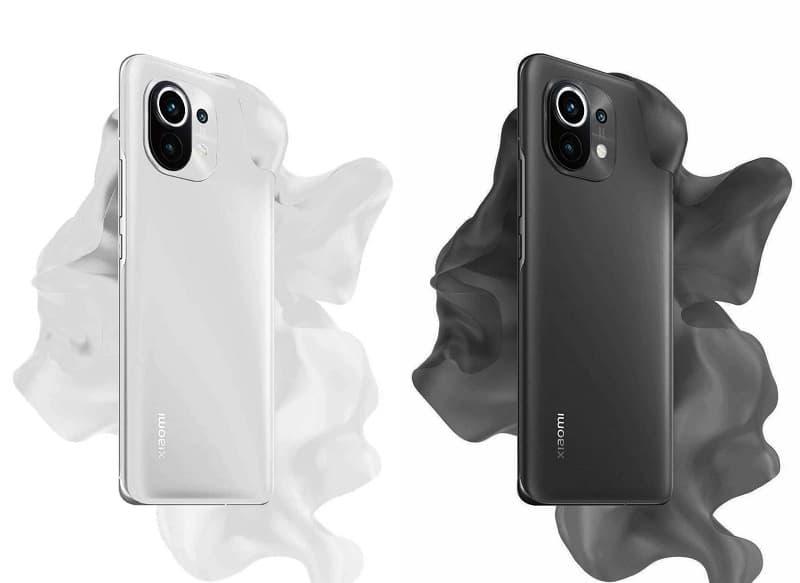 Xiaomi Mi 11 preto e branco