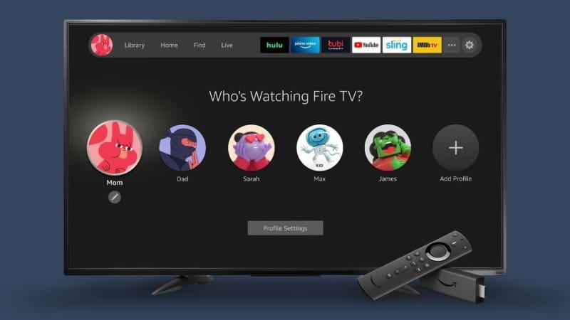 perfis fire stick tv