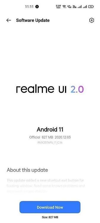 Update Realme X50 Pro