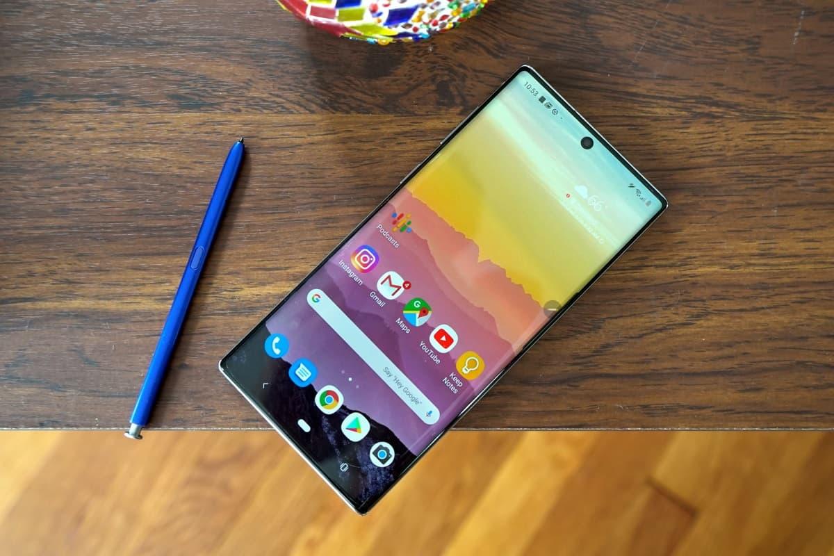 Galaxy Note 10 e S Pen