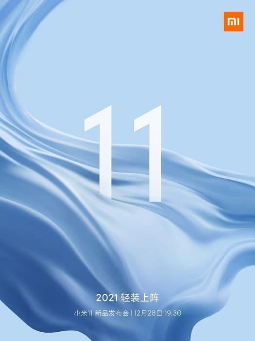 Teaser de lançamento linha Xiaomi Mi 11