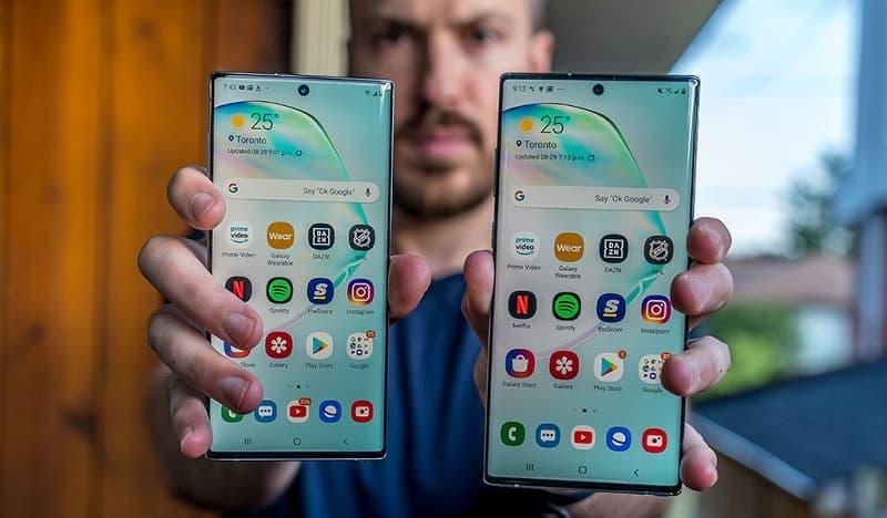 Samsung Galaxy Note 10 e Note 10 Plus nova atualização.