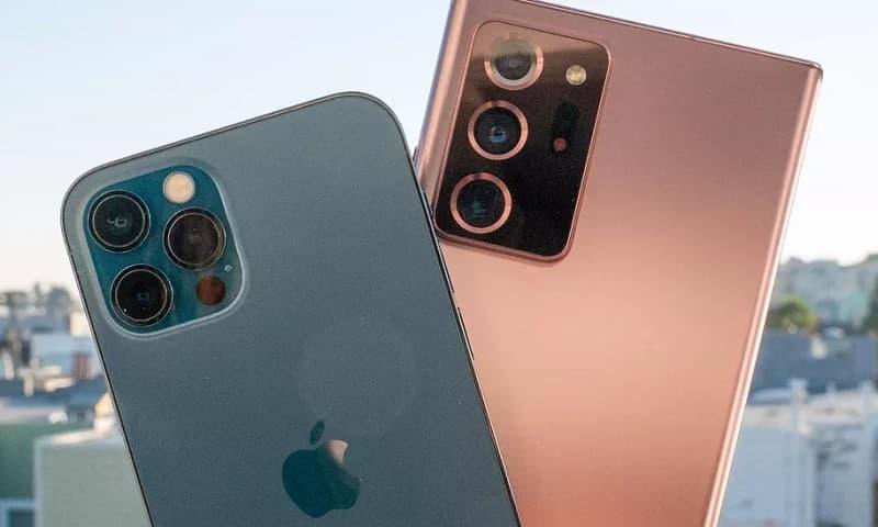 Câmeras Galaxy Note 20 Ultra e iPhone 12 Pro Max